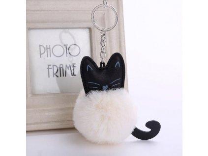 Chlupatá kočka na klíče