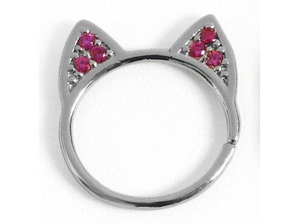 Piercing kroužek do nosu kočka