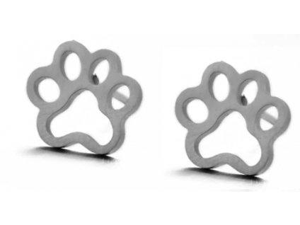 Náušnice kočičí tlapky IV - ocelové