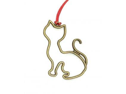 vánoční ozdoba s kočkou