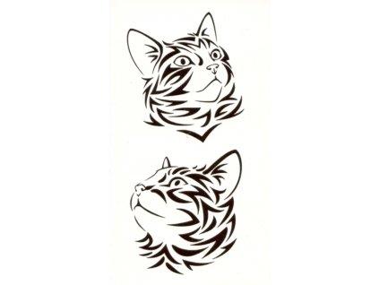 kočka tetování nalepovací tribal