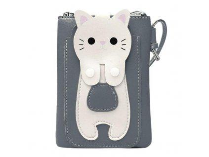 Kabelka bílá kočka