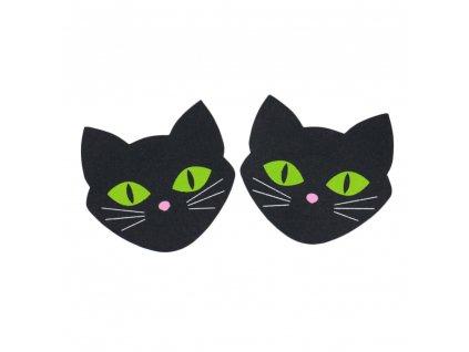 černá kočička v kalhotkách