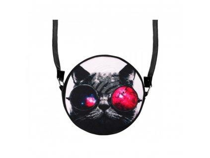 kabelka kočka s kočkou kočičí brýlemi