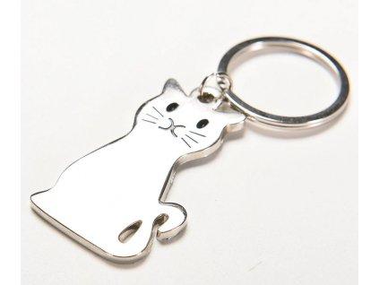 Klíčenka kovová kočka