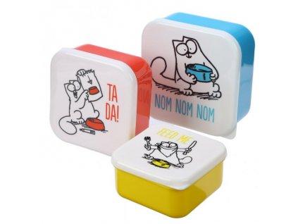 sada 3 krabiček na jídlo kočka Simons cat