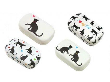Pouzdro na kontaktní čočky kočka