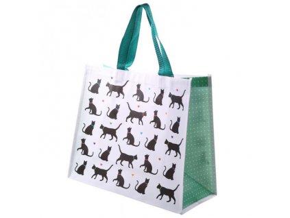 nákupní taška černá kočka