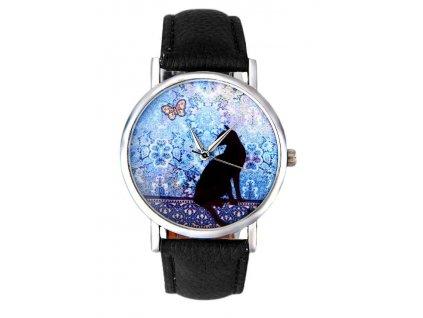 hodinky kočka motýl 3