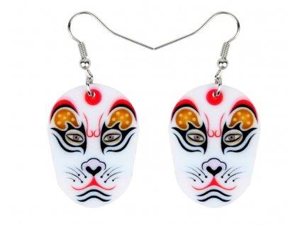 náušnice kočka čínská malovaná maska
