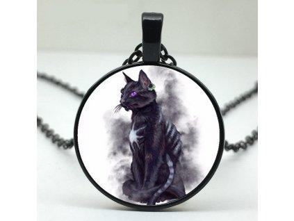 náhdrelník přívěsek černá kočka