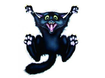 samolepka na auto černá kočka