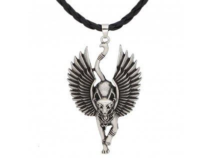 náhrdelník kočka křídla egyptská kočičí
