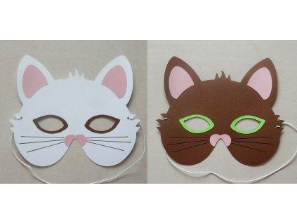 Karnevalová maska kočka - sada k výrobě