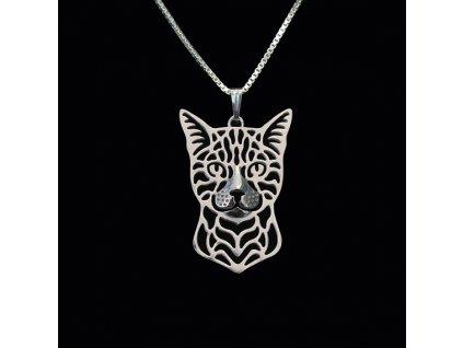 bengálská kočka náhrdelník přívěsek