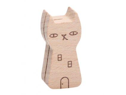 dřevěný stojánek na dopisy vizitky upomínky kočka kočičí