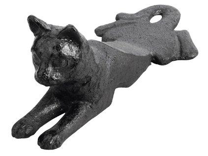 dvěřní klín zarážka kočka litinový