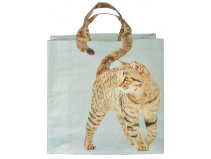 nákupní taška zrzavá kočka s ocáskem