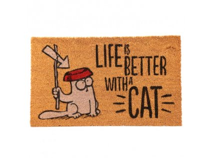 rohožka kočka simons cat life is better with cat