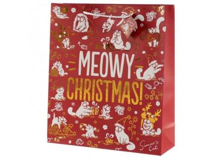 vánoční dárková taška simons cat XL