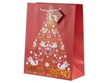 vánoční dárková taška simons cat L