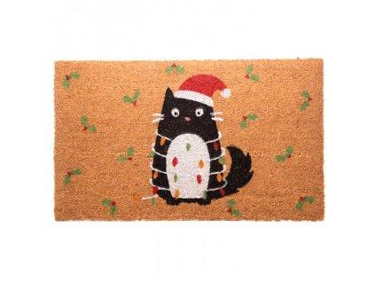 rohožka vánoční kočka