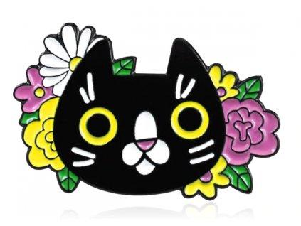 brož kočka květiny email 6