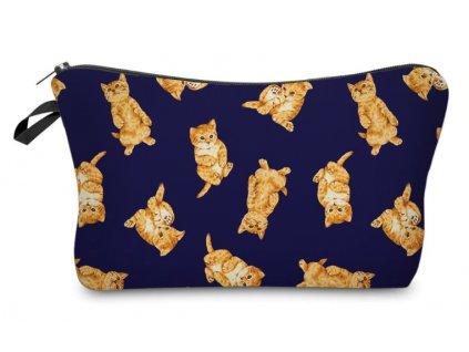 kosmetická taška penál kočka s kočkou kotě