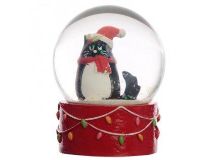 vánoční sněžítko kočka