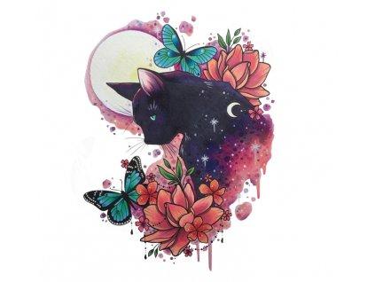 nažehlovačka kočka kočičí měsíc motýl