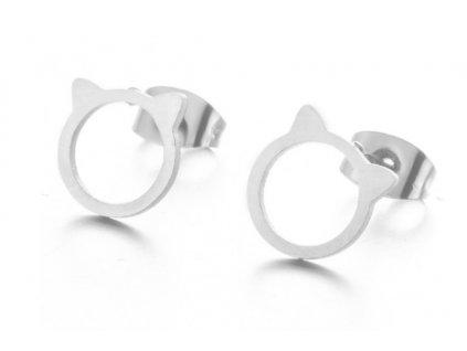 náušnice kočka kočičí hlavička uši