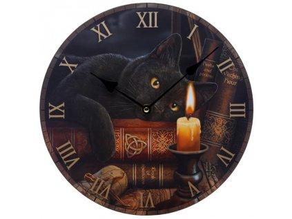 kočka hodiny nástěnné knihy 2