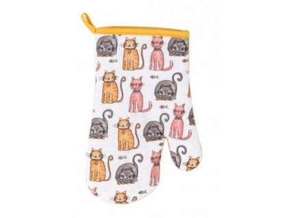 chňapka kočka kuchyňská rukavice kočičí 2