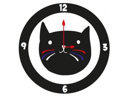 kočičí hodiny kočka smalt nástěnné