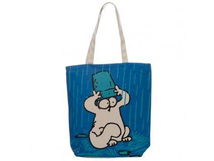 kabelka taška kočka simons cat modrá