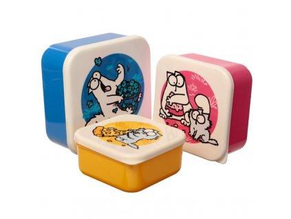 krabičky na jídlo simons cat sada set