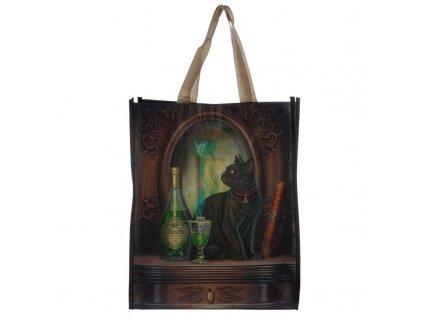 nákupní taška kočka láhev absinth 2
