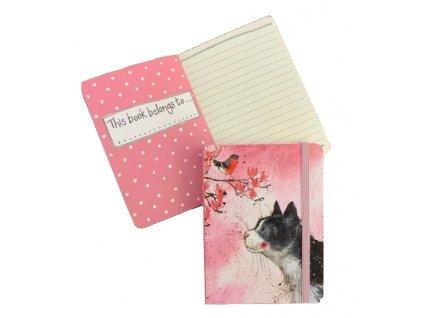 zápisník diář notes kočka kočičí s kočkou na gumičku Alex Clark 6