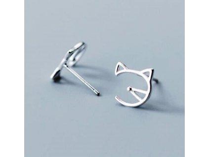náušnice kočka kočičí s kočkou pecky uši čumáček