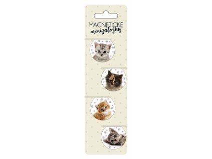 magnetické záložky kočka kotě s kočkou kočičí