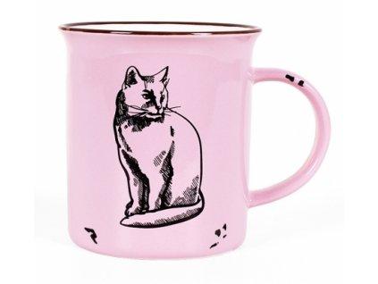 keramický plecháček kočka s kočkou kočičí