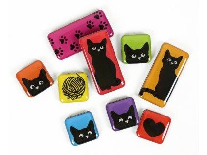 sada magent megnetka kočka s kočkou kočičí barevné v krabičce 2