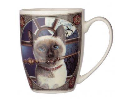 hrnek s kočkou kočičí magie kočka Lisa Parker