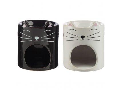 aroma lampa kočka uši čumáček bílá černá
