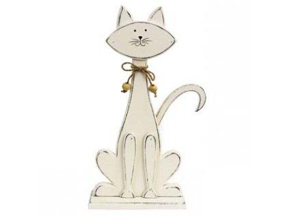 dekorace kočka dřevěná kočičí patina 1