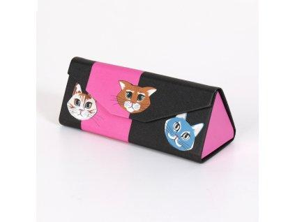 skládací pouzdro na brýle kočka s kočkou kočičí 2