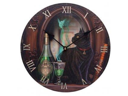 hodiny kočka s kočkou kočičí absint lisa parker nástěnné