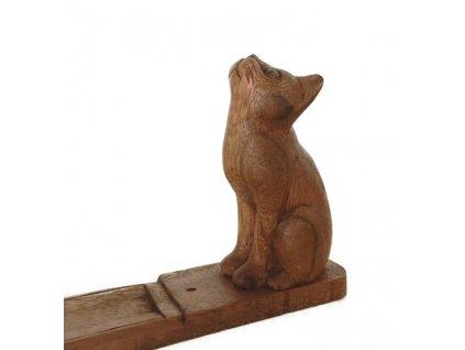 kočka stojánek vonná tyčinka hořák s kořkou dřevěný kočičí 8 12