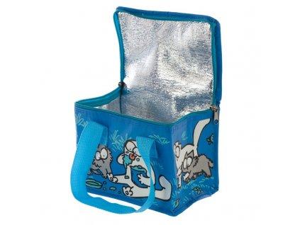 chladící taška na jídlo kočka s kočkou kočičí simon simons cat modrá 5