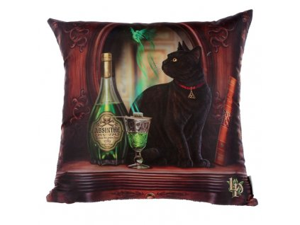 polštář kočka s kočkou kočičí čená absinth lisa parker
